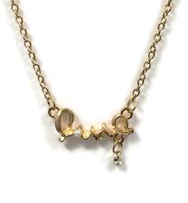 Fashion Women Love Choker Necklace Crystal Rhinestone Jewellery Gold Coloured