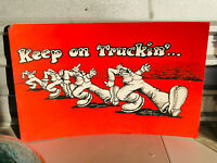 Vintage Black and white Poster 1971 Keep on Truckin/'  Inv#G3947