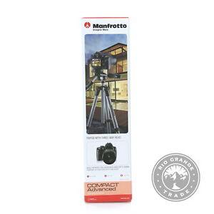 OPEN BOX Manfrotto MKCOMPACTADV-BK Compact Advanced Tripod with 3 Way Head