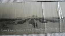 1917 panoramic military photo army WWI 84th Division Camp Zachary Taylor horses
