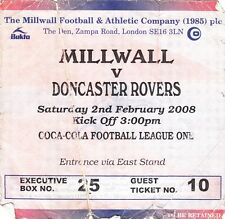 Ticket - Millwall v Doncaster Rovers 02.02.08
