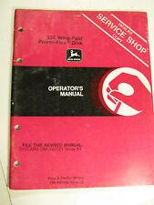 John Deere 335 Wing Fold Power Flex Disk Oma46156 Operator'S Manual