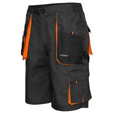Mens Cargo Pro Work Shorts Grey/Orange Multi Pockets Waist 28 - 42 // FAST DSP