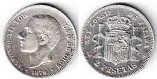 2 PESETAS 1879 AMEDEO I SPAGNA SPAIN #184