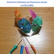 100 Paper Parasols Umbrella Hawaiian Cocktail Picks Drinks Party Function Easter