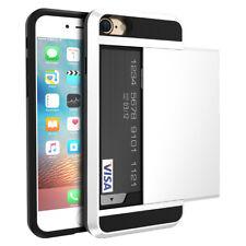 Hybrid Handy Cover Für iPhone Hülle Hardcase Handyhülle Schutz Case Kartenhalter