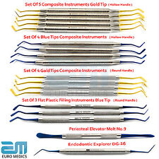 Dental Composite instrument plat plastique mue 9 Dentiste Explorer revêtement titane