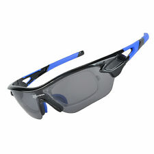 RockBros Polarized Bike Goggles Sunglasses Cycling Glasses UV400 Black Blue New