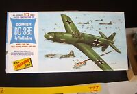 1966 Vintage Lindberg Dornier Do-335 Arrow Twin Engine Fighter 1/72nd. (777)