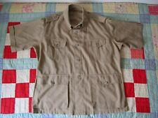 New listing rare vintage Ll Bean safari shirt short sleeve sz 48 60s 70s