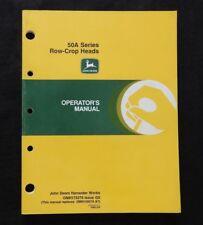John Deere 4400 6600 7700 6620 7720 8820 50a Row Crop Heads Operators Manual Wow