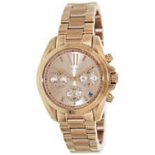 Michael Kors MK5799 Womens Bradshaw Mid-Size Rose Golden Steel Chronograph Watch