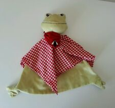 IKEA Fabler Groda Frog Baby Blanket Security Lovey Red Gingham Bug Nunu