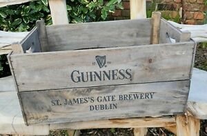 Guinness St.James Gate Brewery Distressed Wooden Crate 54cm×37cm×28cm