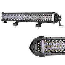 20inch 270W Triple Row Side Shooter Combo LED Light Bar 6000K Lens Truck ATV SUV