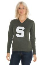MICHIGAN STATE SPARTANS NCAA Women's V-Neck Knit Alma Mater Sweater GREEN Large