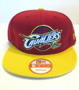 New Cleveland Cavaliers NBA New Era 9Fifty Snapback Hat Two-Tone Maroon/Yellow
