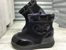 Fade Glory Girls Boots Cap toe Corduroy Bootie Bow Heart accent Black Size 5C
