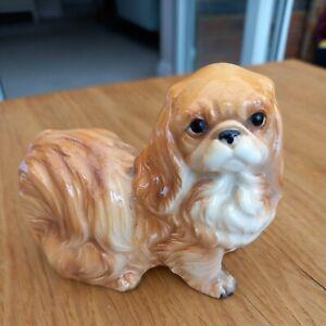 vinatge pekingese dog ornament. stamped foreign. kitsch