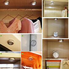 3LED Home Wardrobe Touch Lights Battery Powered Push Tap Stick On Click Lamps