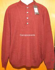 NEW Men's Under Armour Cashmere Silk Burgundy Sweater #1265252  Size 3XL
