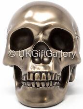 Bronze Tribal Skull Human Head Ornament Very Detailed Sculpture Veronese Studio