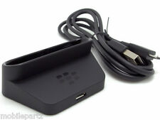 Genuine BlackBerry Bold 9790 Desktop Charger Pod Cradle Stand & USB Data Cable