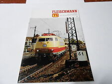1971 VINTAGE CATALOG #2188 -  FLEISCHMANN HO MODEL TRAINS  - SLOT CARS