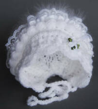 Baby Bonnet Crochet Pattern - wht. All Sizes. Beautiful