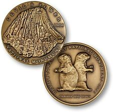 Devil's Tower National Monument Challenge Coin Bronze Wyoming Prairie Dog Park