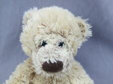 Russ BeRrie Teddy Bear Isa Shaggy Tan Brown Lovey Plush Stuffed Animal Toy Soft