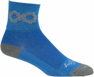 SockGuy Classic Infinite Socks | 3 inch | Blue | L/XL