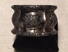 Bruckmann & Sohne Antique German 800 Silver Floral Ornate Napkin Ring