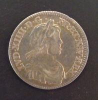 Louis XIV (1643-1715) 1/12ème d'écu à la mèche courte 1644 A Paris rose
