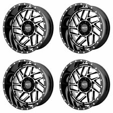 4x Moto Metal 20x12 MO985 Breakout Wheels Gloss Black Machined 6x5.5 6x139.7 -44