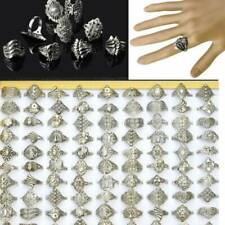 100pcs Wholesale Lots Jewelry Mixed Style Tibet Silver Vintage Rings Free Ship