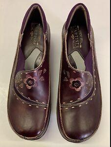 Womens Spring Step L'Artiste Burbank Leather Clogs Shoes Blue Size 39 US 8.5 NIB