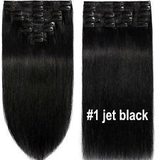 Extra THICK 160+++ Clip In Remy Human Hair Extensions Full Head Double Weft LK47
