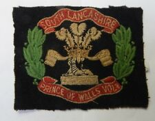 South Lancashire Regiment Prince Of Wales Volunteers Cloth badge 10 x 8.5 cm