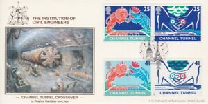 GB STAMPS CHANNEL TUNNEL FIRST DAY COVER 1994 BRADBURY INSTITUTE CIVIL ENGINEERS