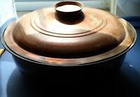 Antique Nesting Set Of 2 Handmade Turkish Covered Tinned Copper Pots