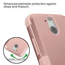 HTC BOLT / HTC 10 EVO - HARD&SOFT RUBBER HYBRID PHONE CASE COVER ROSE GOLD ARMOR