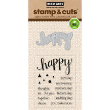 Happy Hero Arts Clear Stamp & Cut Thin Metal Die Set DC150 NEW!