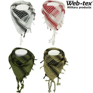 WEB-TEX MILITARY SHEMAGH MASK 100% COTTON ARMY FACE DISGUISE HEAD SAND SCARF SAS