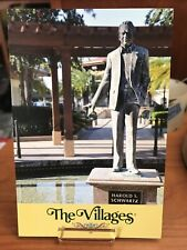 POSTCARD UNUSED FLORIDA, THE VILLAGES-STATUE OF HAROLD S SCHWARTZ, FOUNDER