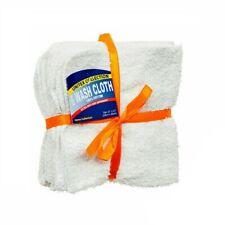 White Wash Cloths 11x11 Hotel Kitchen Washcloth Towel 6 Pcs 100 Cotton