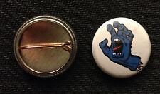 """Santa Cruz Screaming Hand - 1"""" Pinback Button Pin - Free Ship - Buy 2 Get 1 Free"""
