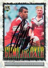 ✺Signed✺ 2000 NEW ZEALAND WARRIORS NRL Card STACEY JONES
