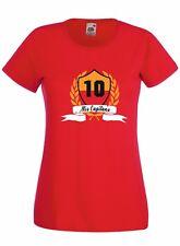 T-shirt Maglietta Donna J1984 Mio Capitano 10 Per Sempre Totti Roma