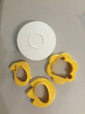 NEW Tupperware Cookie Cutters Nesting Reversible Yellow Ester